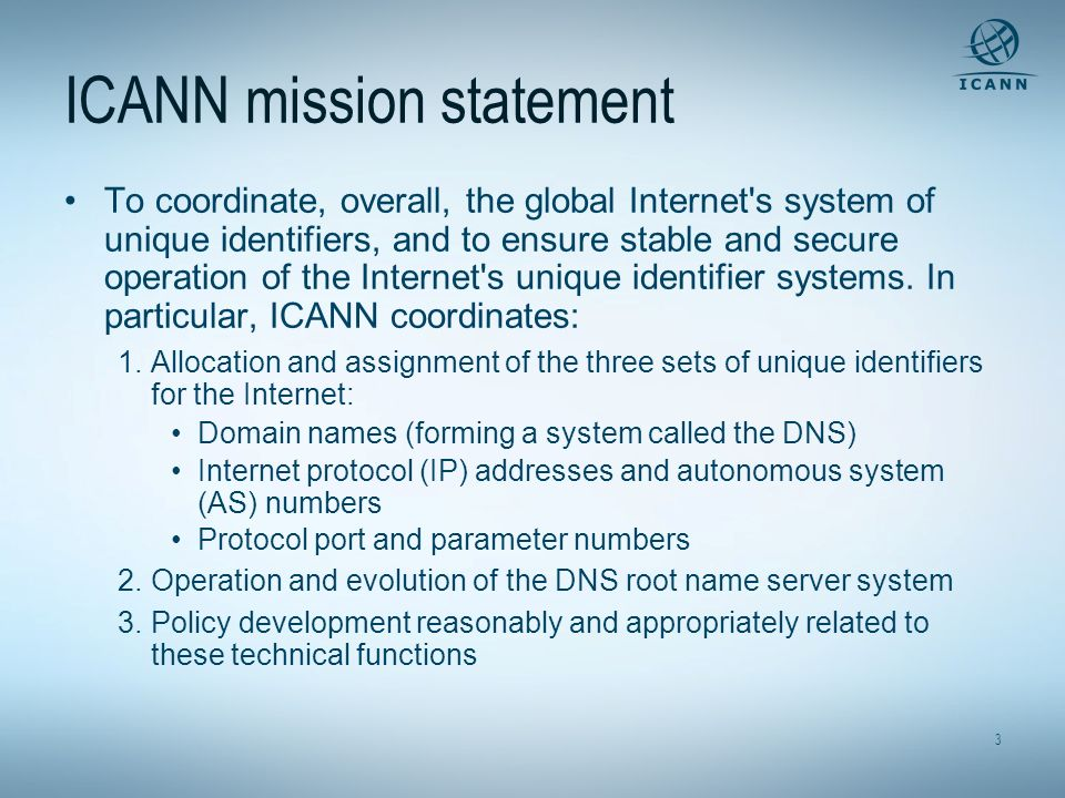 ICANN mission statement