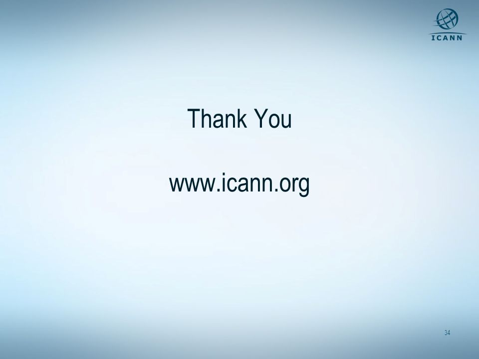 Thank You www.icann.org