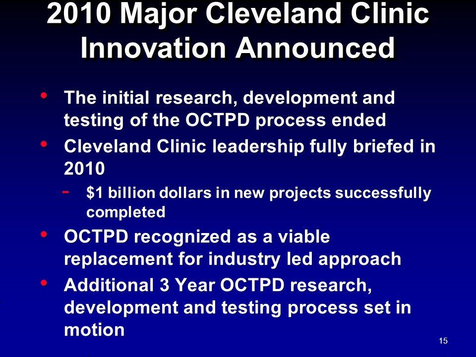 2010 Major Cleveland Clinic Innovation Announced