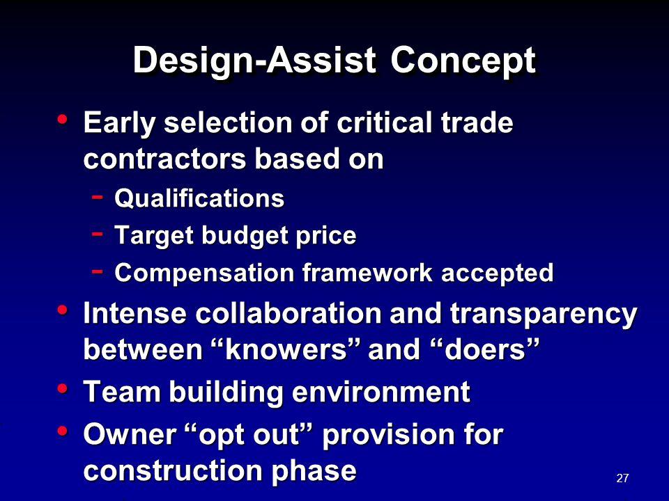 Design-Assist Concept