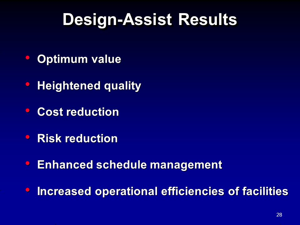 Design-Assist Results