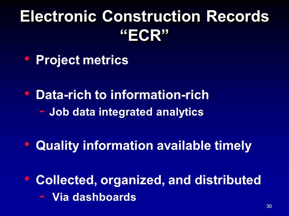 Electronic Construction Records ECR