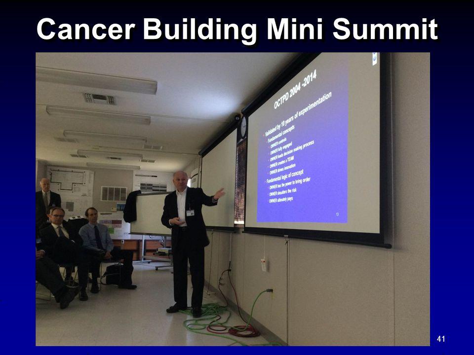 Cancer Building Mini Summit