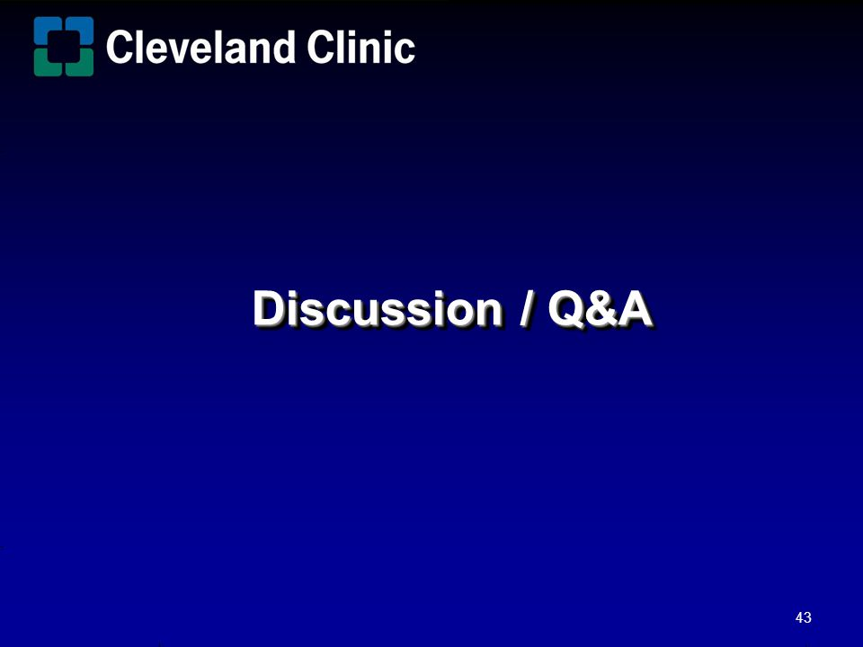 Discussion / Q&A Bill/Ron