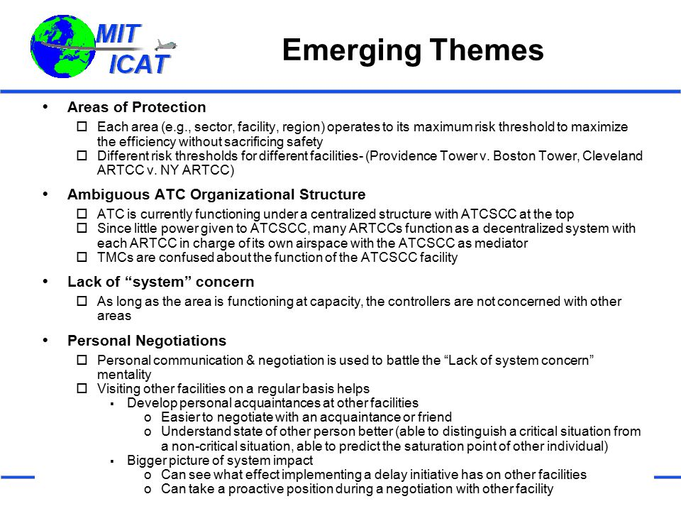 Emerging Themes Areas of Protection