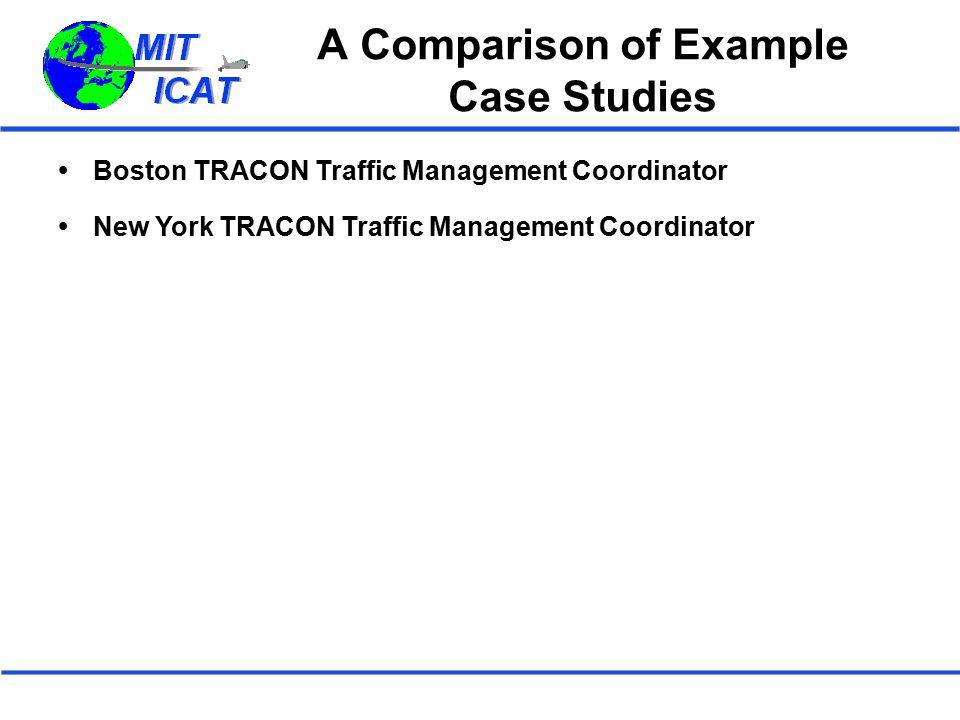 A Comparison of Example Case Studies