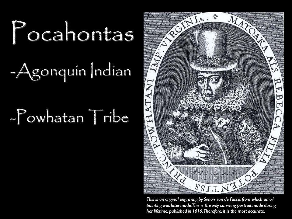 Pocahontas Agonquin Indian Powhatan Tribe