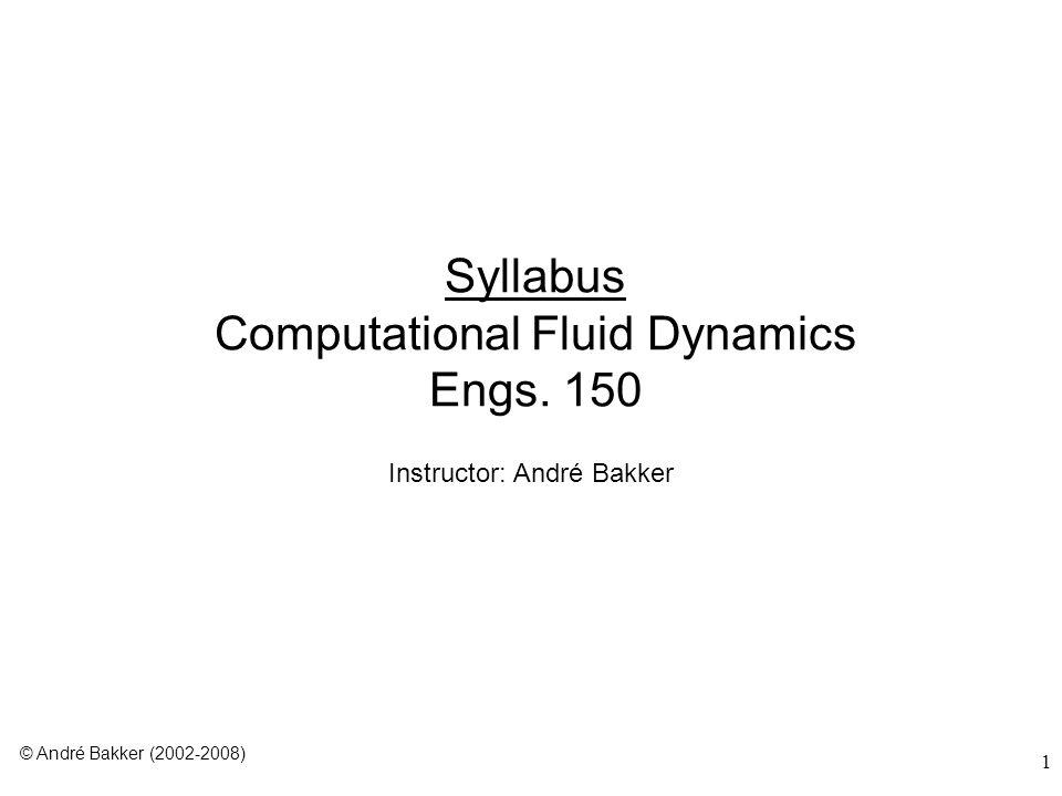 Syllabus Computational Fluid Dynamics Engs. 150