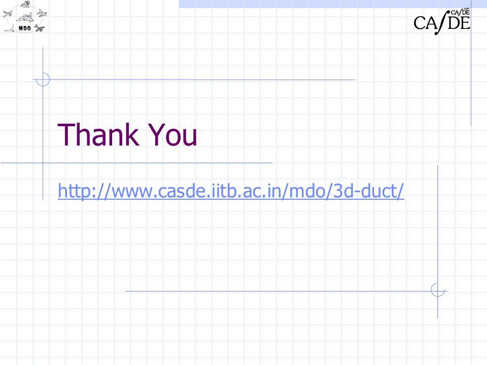 Thank You http://www.casde.iitb.ac.in/mdo/3d-duct/