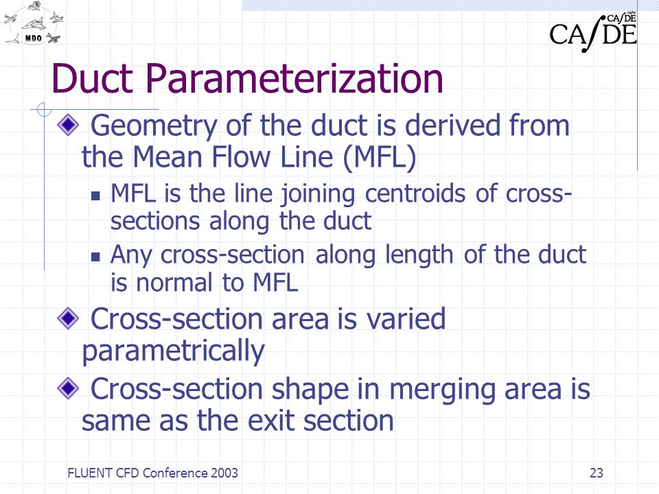 Duct Parameterization