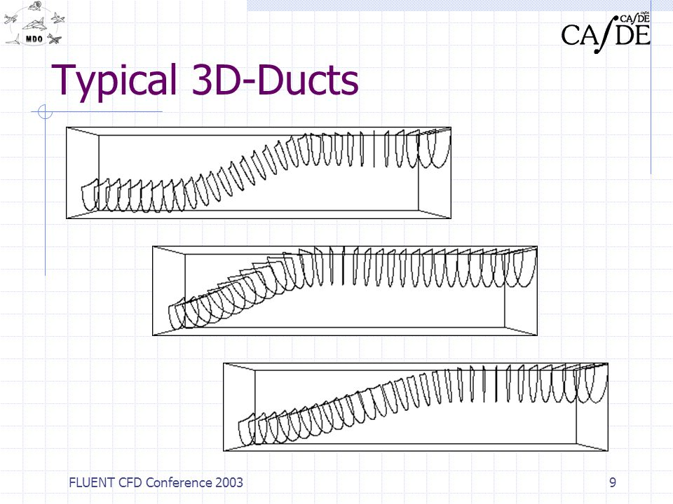 Typical 3D-Ducts FLUENT CFD Conference 2003