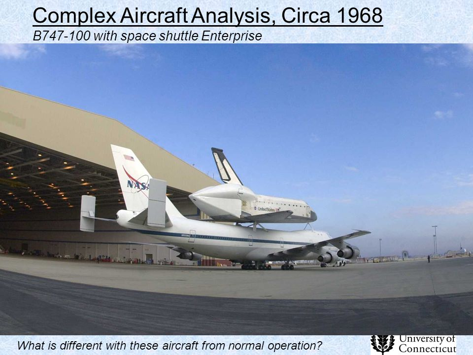 Complex Aircraft Analysis, Circa 1968 B747-100 with space shuttle Enterprise