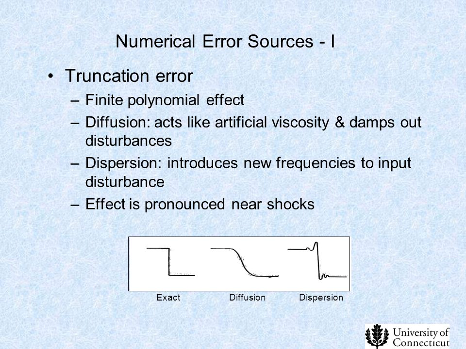 Numerical Error Sources - I