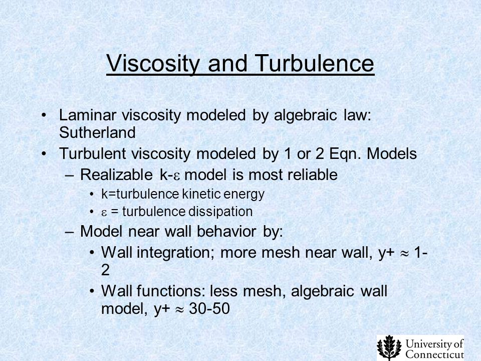 Viscosity and Turbulence