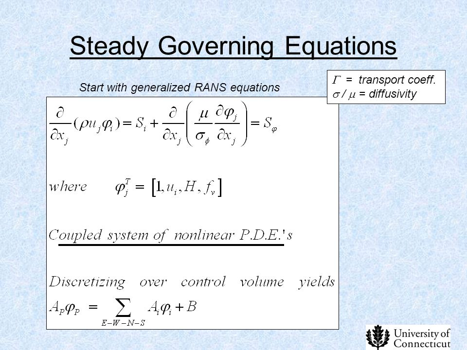 Steady Governing Equations
