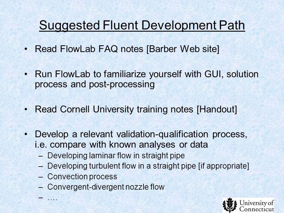 Suggested Fluent Development Path