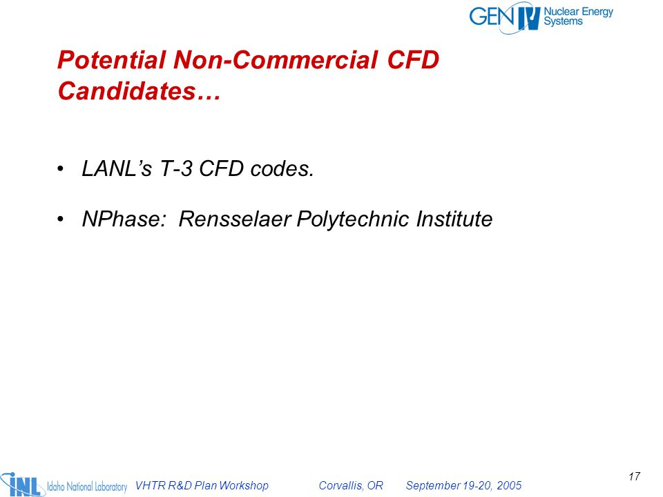 Potential Non-Commercial CFD Candidates…