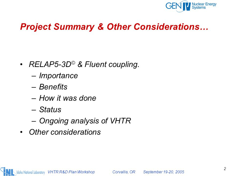 Project Summary & Other Considerations…