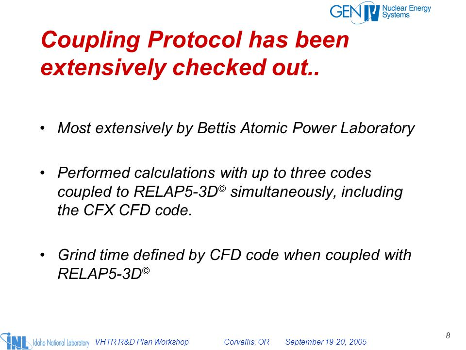 Coupling Protocol has been extensively checked out..