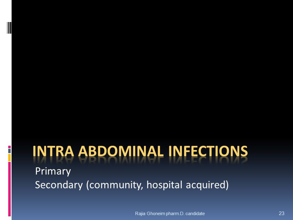 Intra abdominal Infections