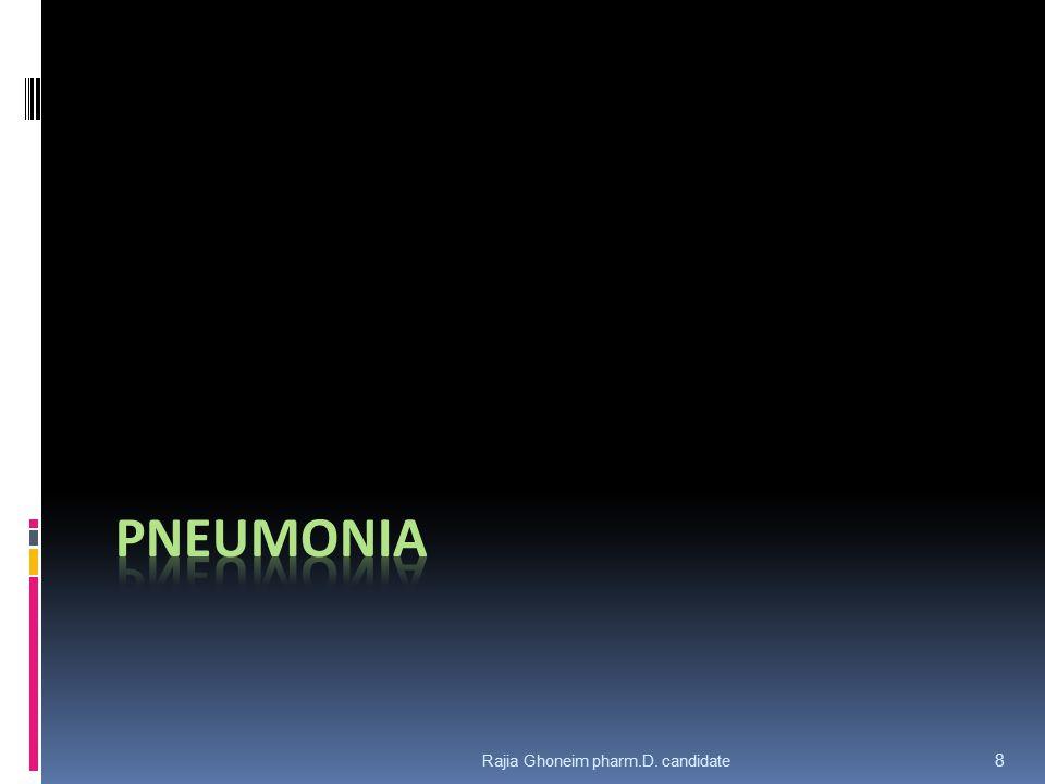 pNEUMONIA Rajia Ghoneim pharm.D. candidate