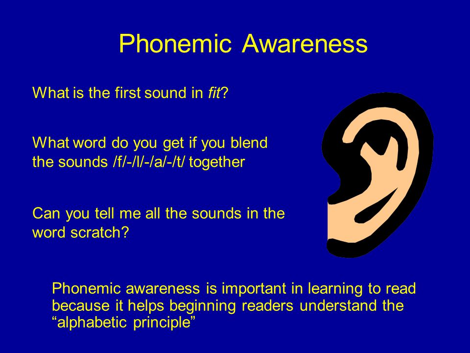 Phonemic Awareness What is the first sound in fit
