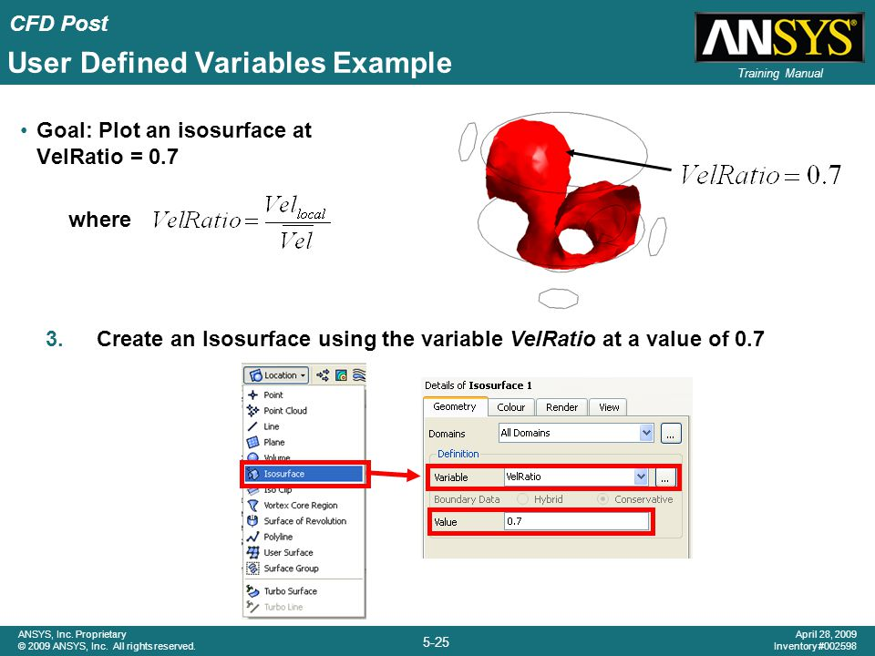 User Defined Variables Example