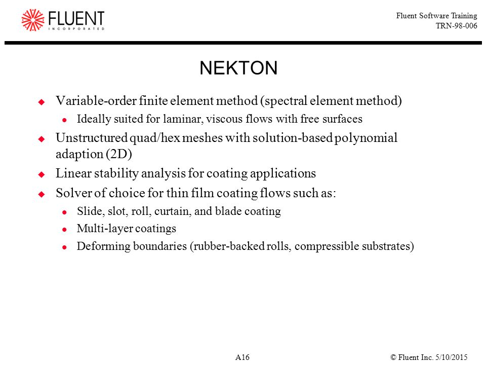 NEKTON Variable-order finite element method (spectral element method)