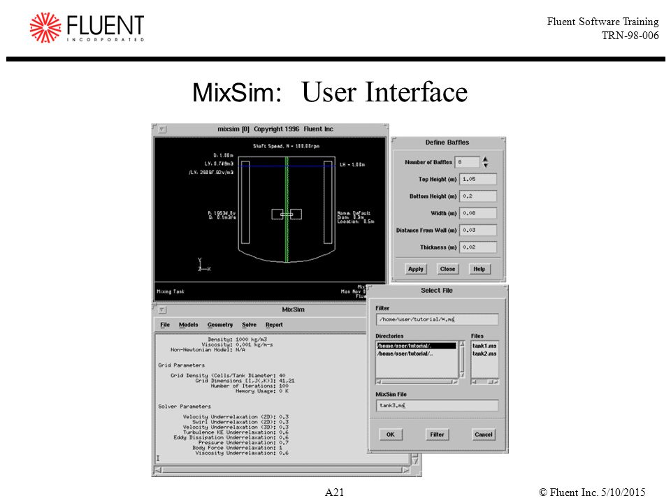 MixSim: User Interface