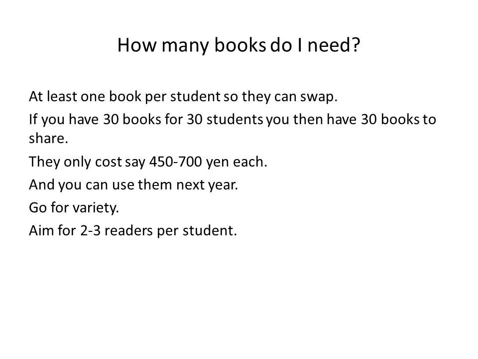 How many books do I need