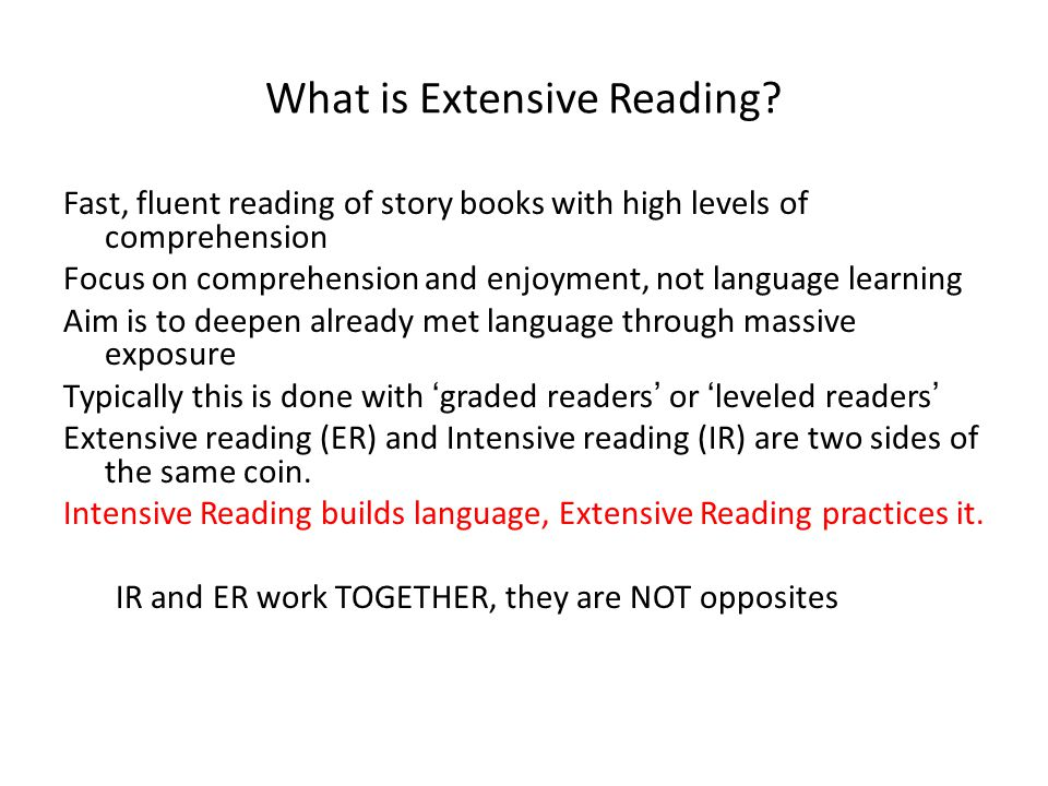 What is Extensive Reading