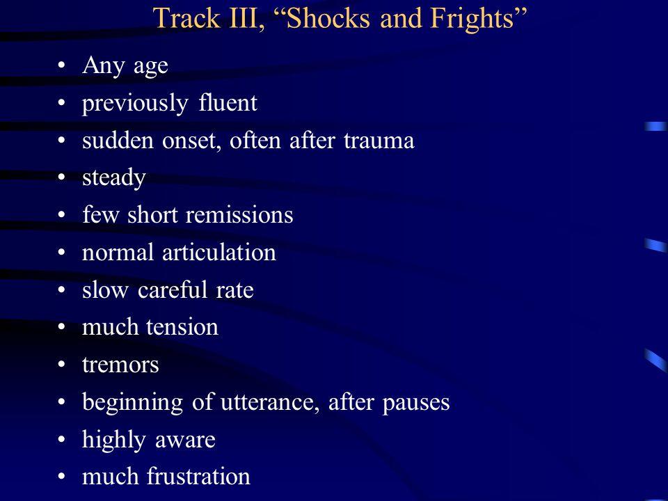 Track III, Shocks and Frights