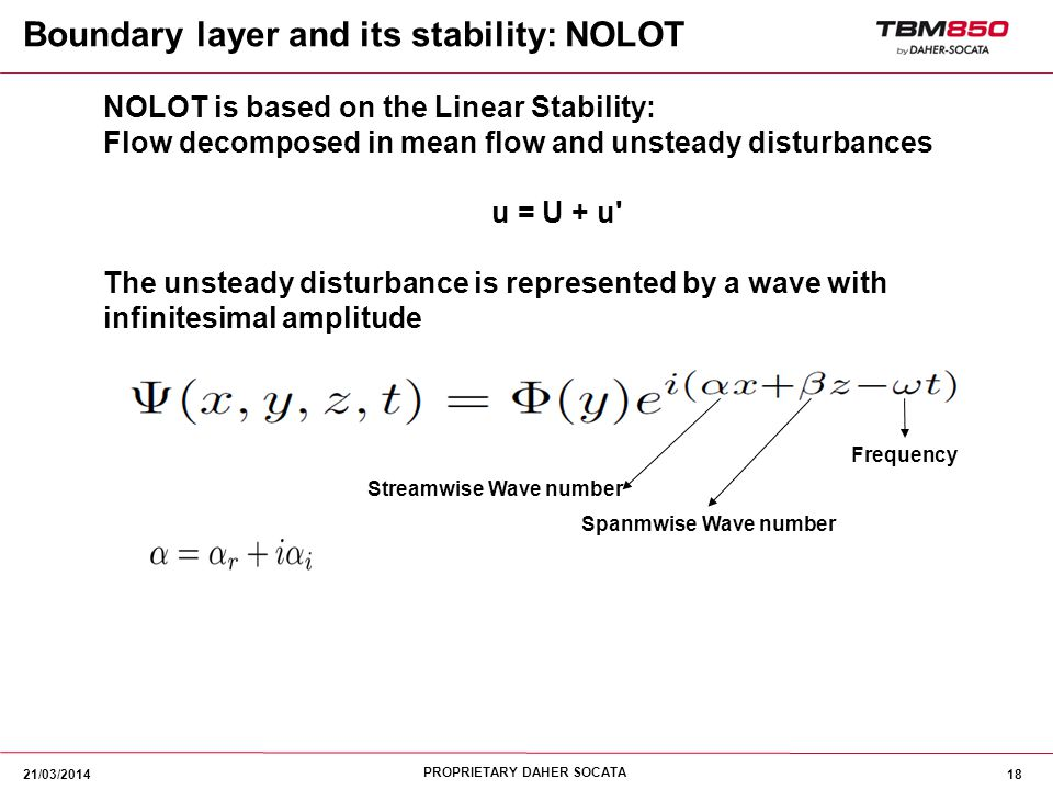 Streamwise Wave number
