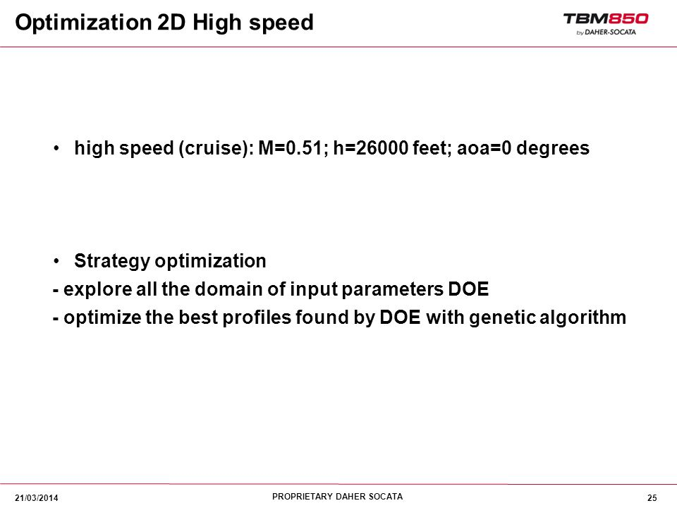 Optimization 2D High speed
