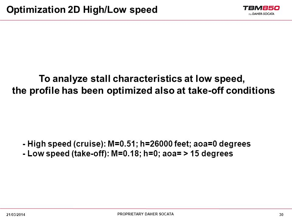 Optimization 2D High/Low speed