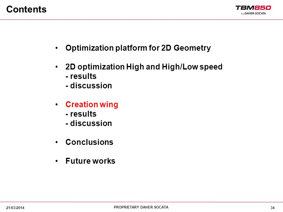 Contents Optimization platform for 2D Geometry