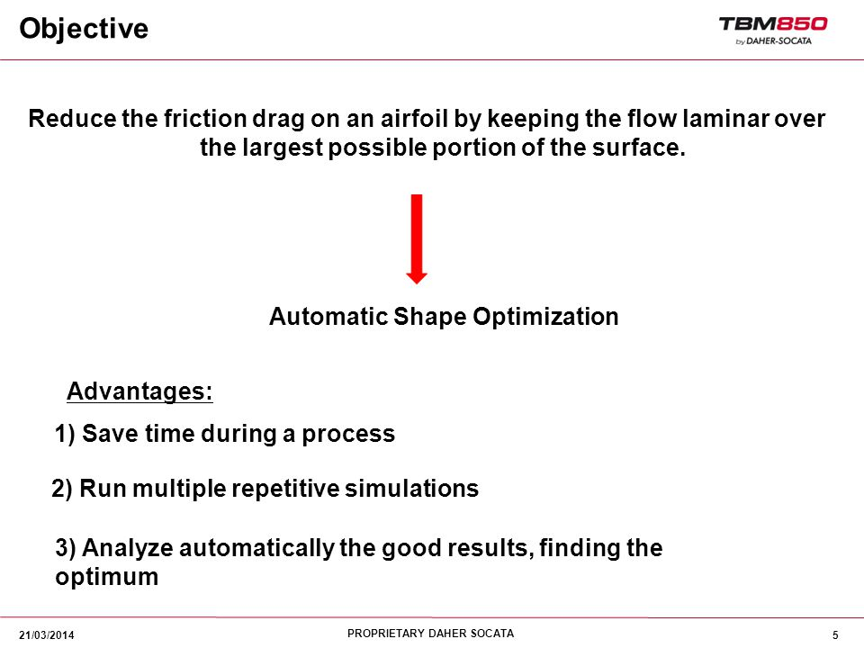 Objective Reduce the friction drag on an airfoil by keeping the flow laminar over the largest possible portion of the surface.