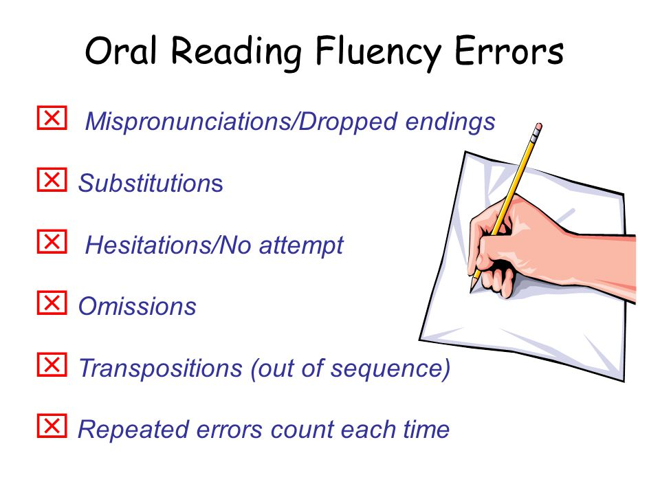 Oral Reading Errors 29