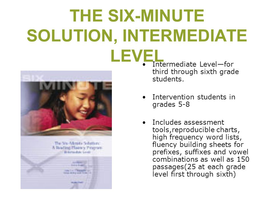 THE SIX-MINUTE SOLUTION, INTERMEDIATE LEVEL