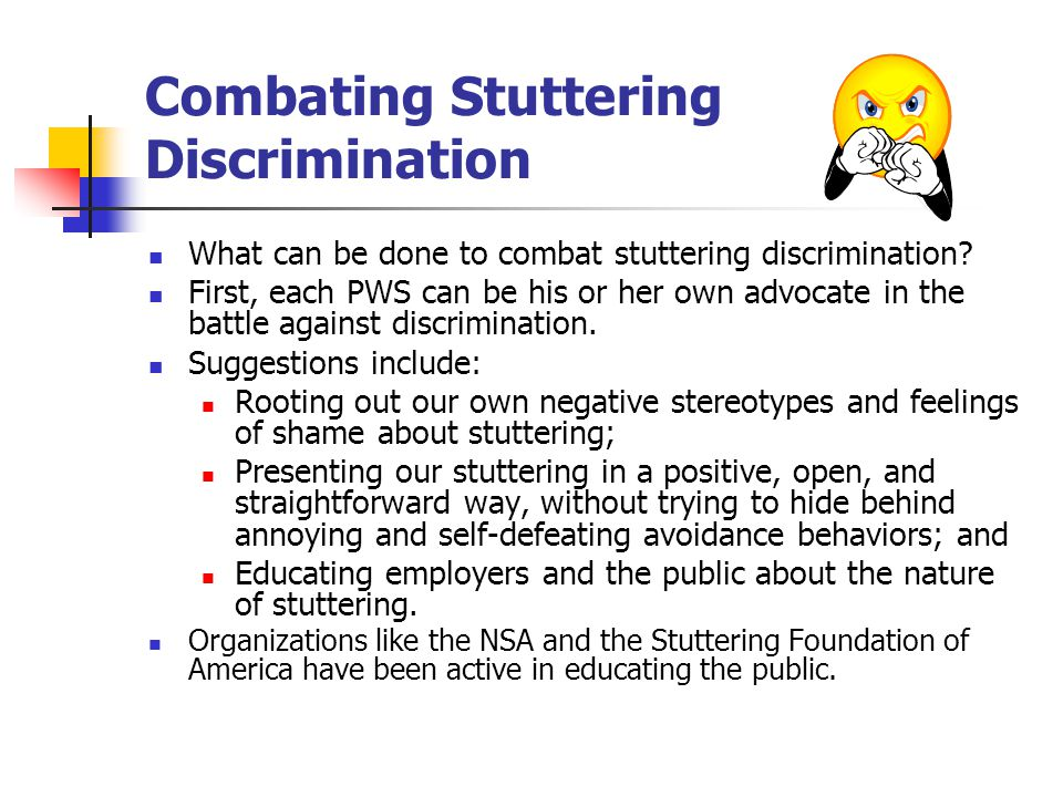 Combating Stuttering Discrimination