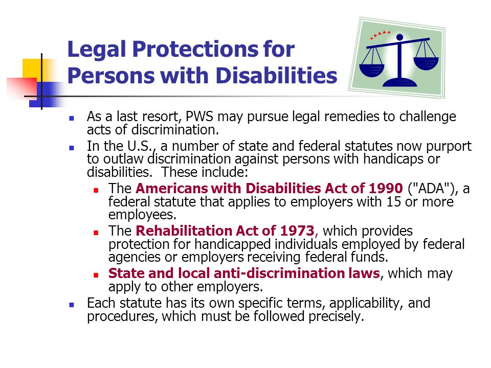 Legal Protections for Persons with Disabilities