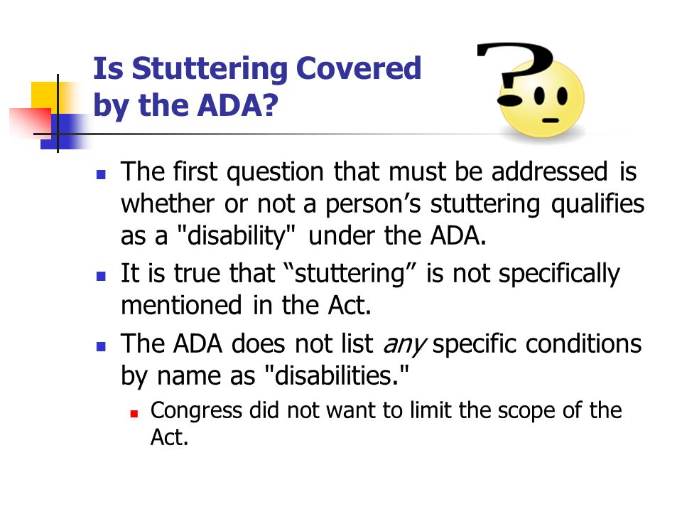 Is Stuttering Covered by the ADA