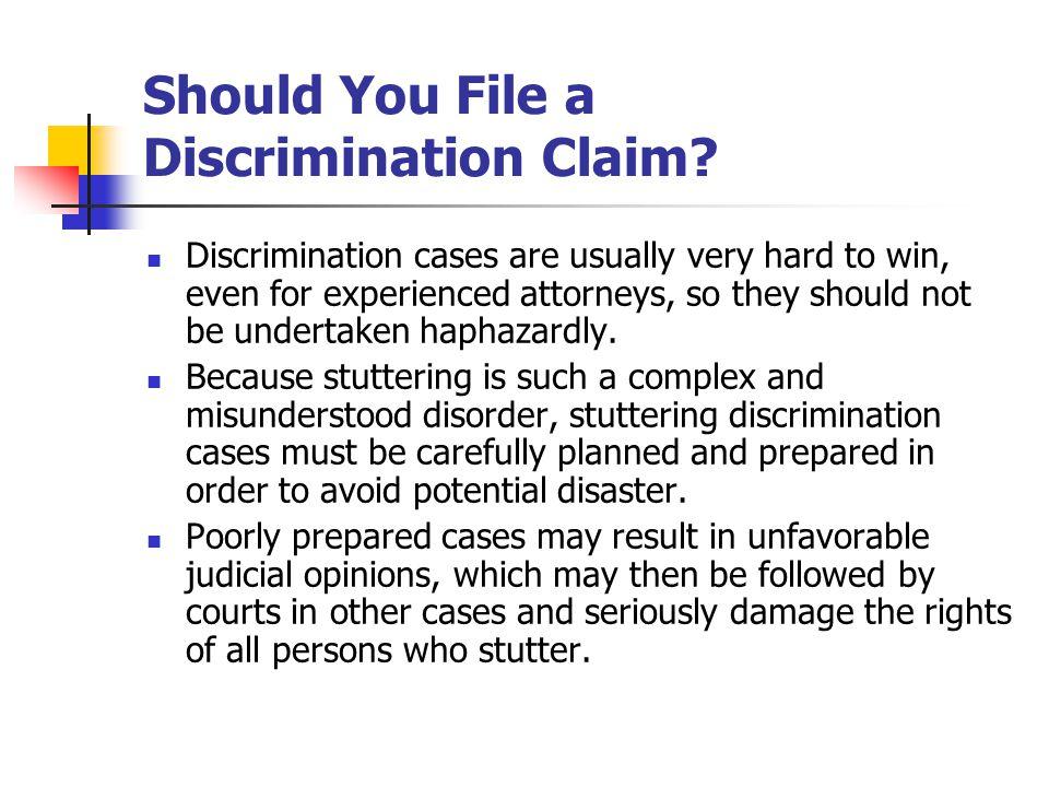 Should You File a Discrimination Claim