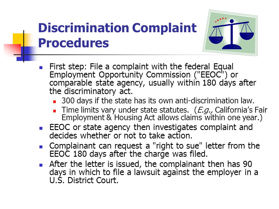 Discrimination Complaint Procedures