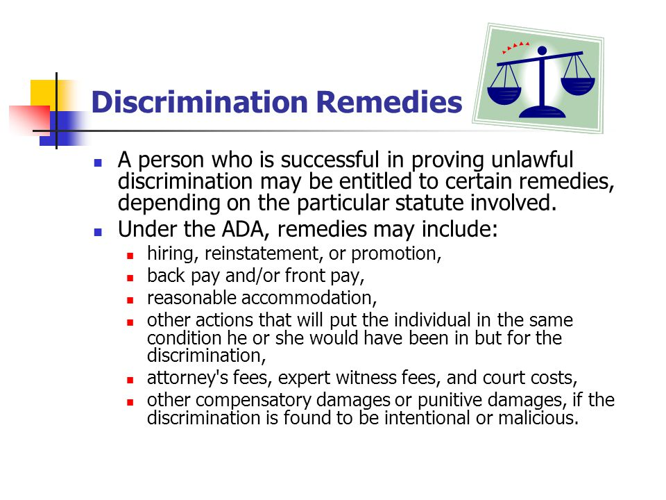 Discrimination Remedies