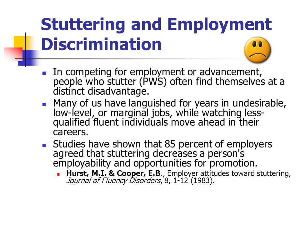 Stuttering and Employment Discrimination