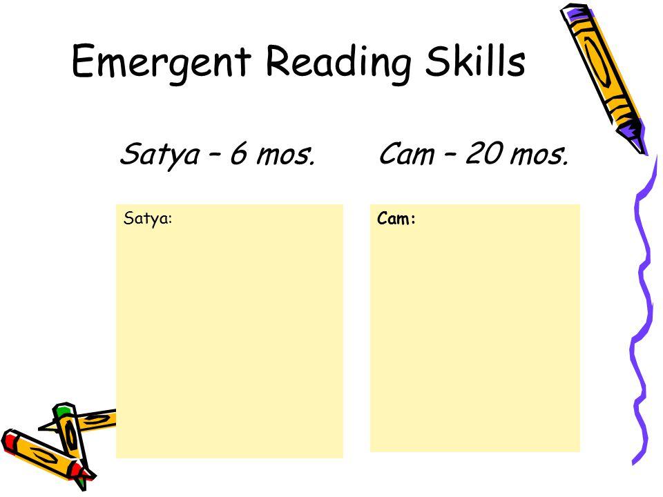 Emergent Reading Skills