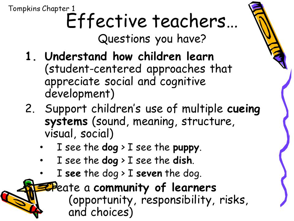 Effective teachers… Questions you have