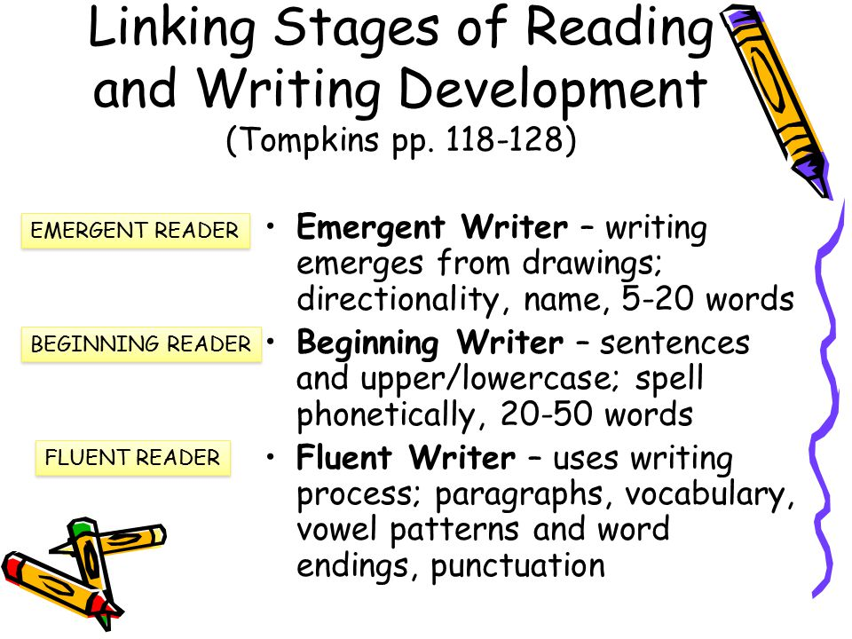 Reading and writing development