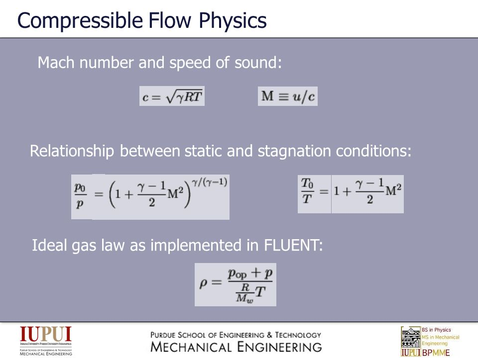 Compressible Flow Physics
